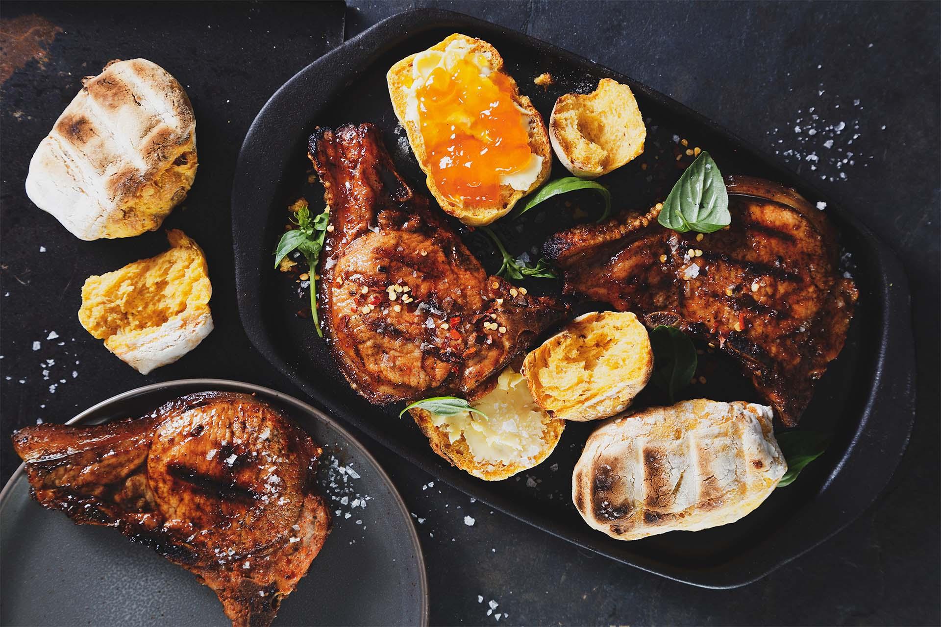 Pork chop roosterkoek